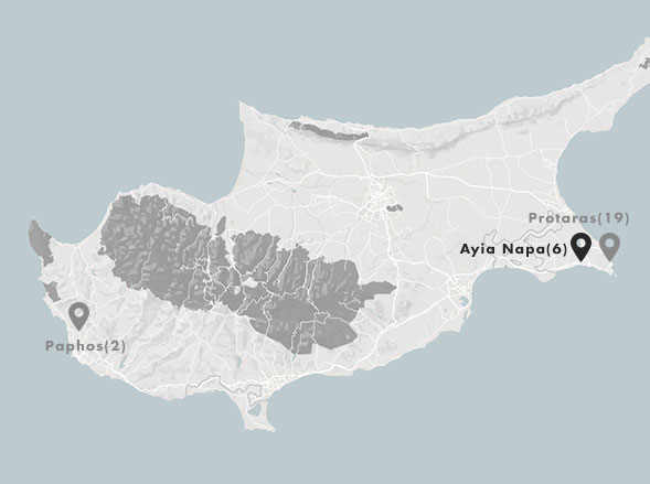 map region Ayia Napa